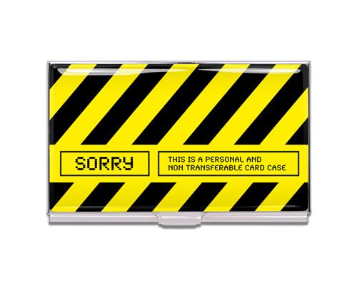 ビジネスカードケース/SORRY